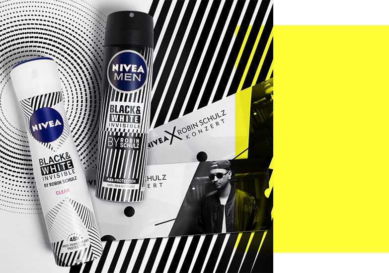 Nivea Deo Black & White Advertising with Robin Schulz concert tickets