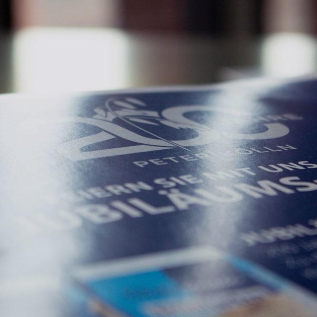 200 years Peter Kölln Logo on brochure