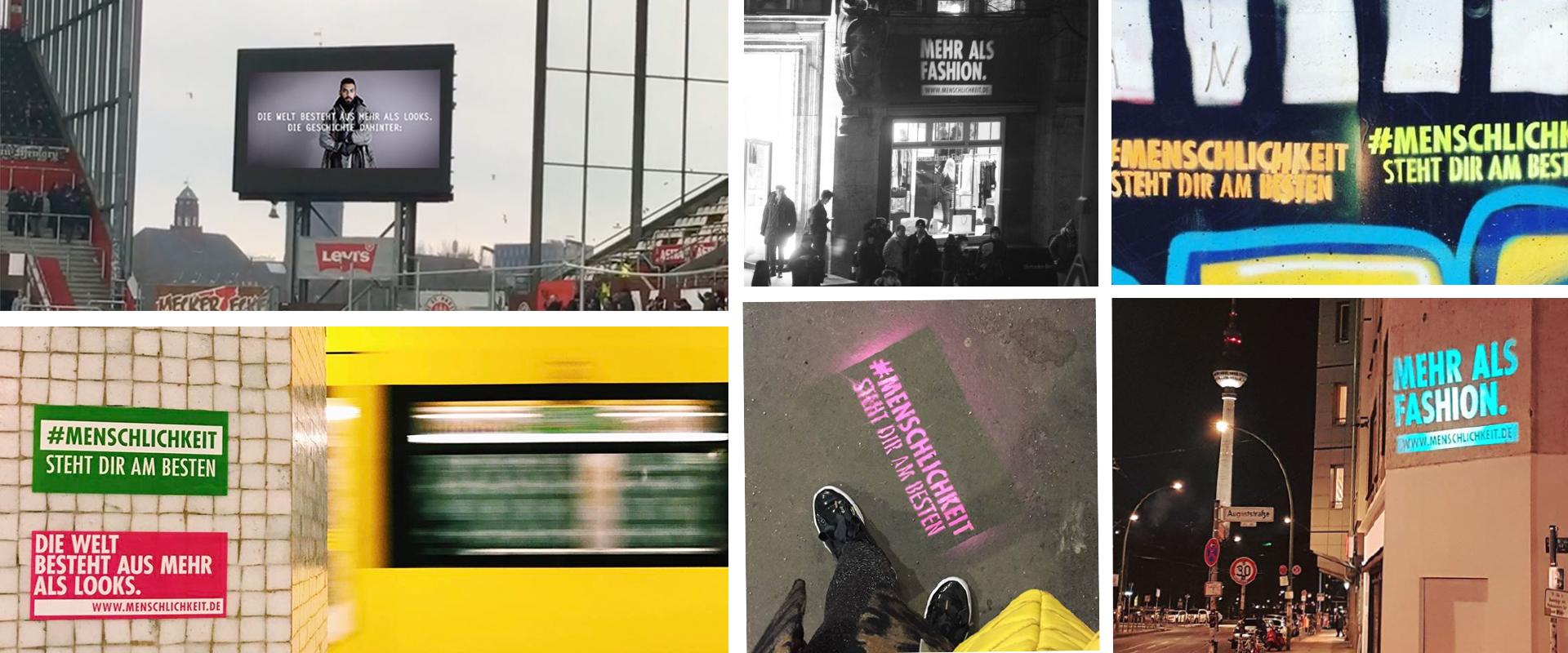 Bildergallerie von Slogan #Menschlichkeit steht dir am besten in Oeffentlichkeit