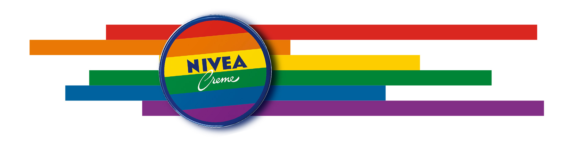 Nivea Creme tin with rainbow flag
